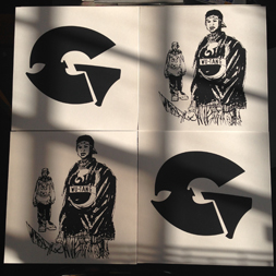 silk screened vinyl jackets for gza liquid swords instrumentals