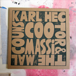 screen printed jackets for karl hector and the malcouns for coomassi for now again records