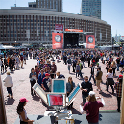 live printing at boston calling 2015