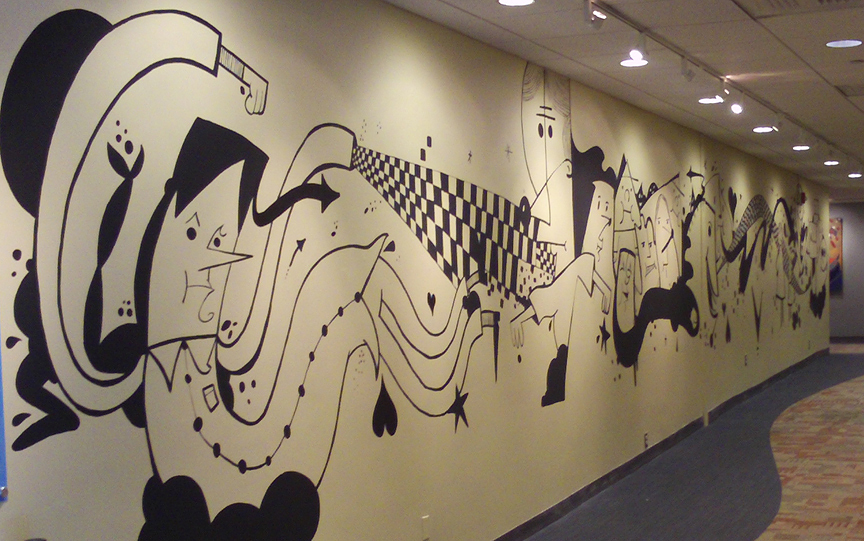 Nick Z mural at Northeastern - The Many