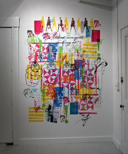 Screen Printed Mural at Dots Per Inch