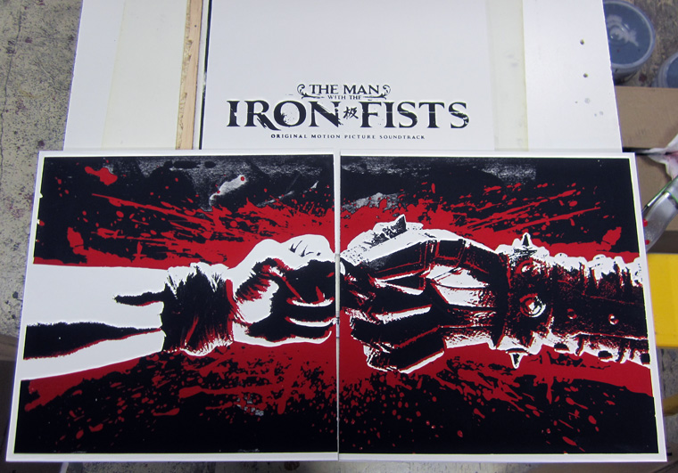 man with the iron fists soundtrack screen prints