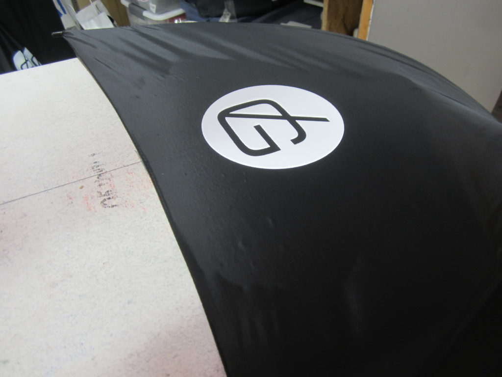 first screen printed umbrella off the press