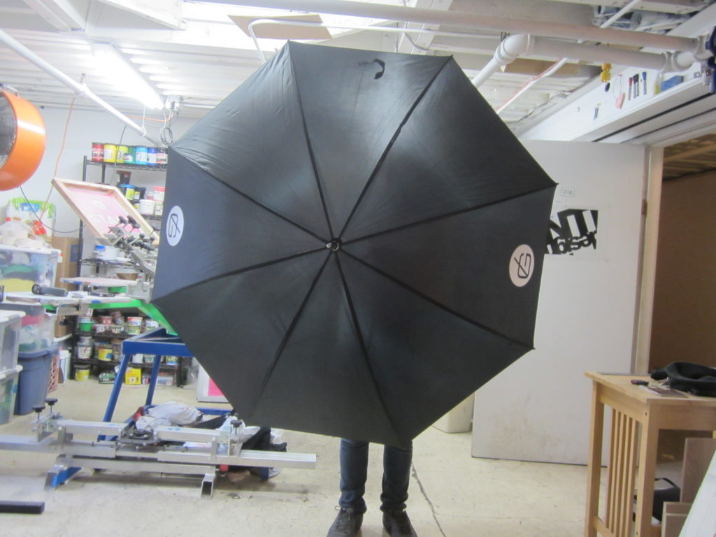 final screen printed umbrella
