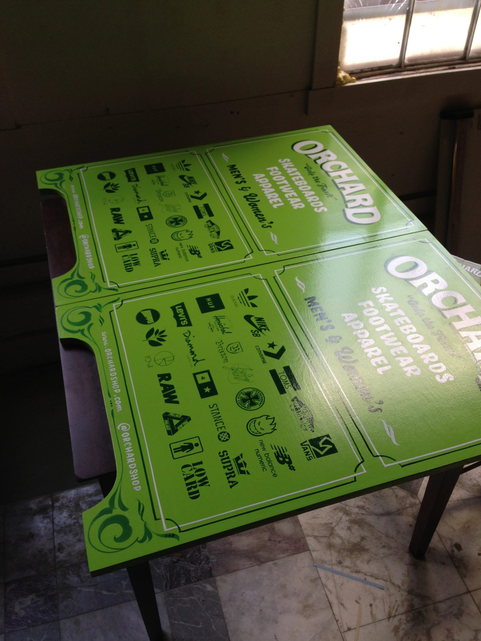 both signs were screen printed successfully