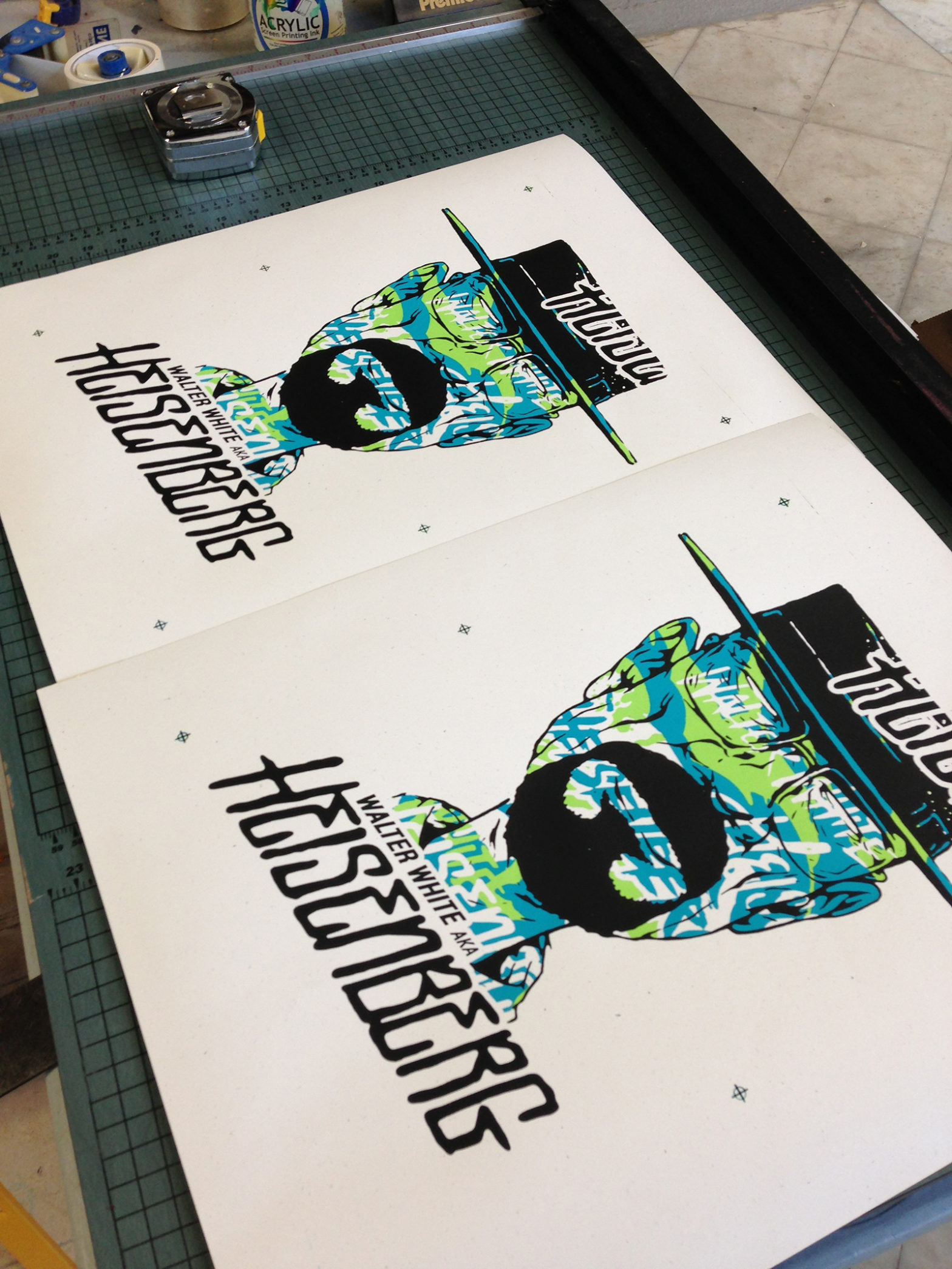 final screen printed posters, just need trimming