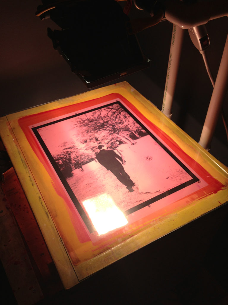 burning the black screen of the CMYK print