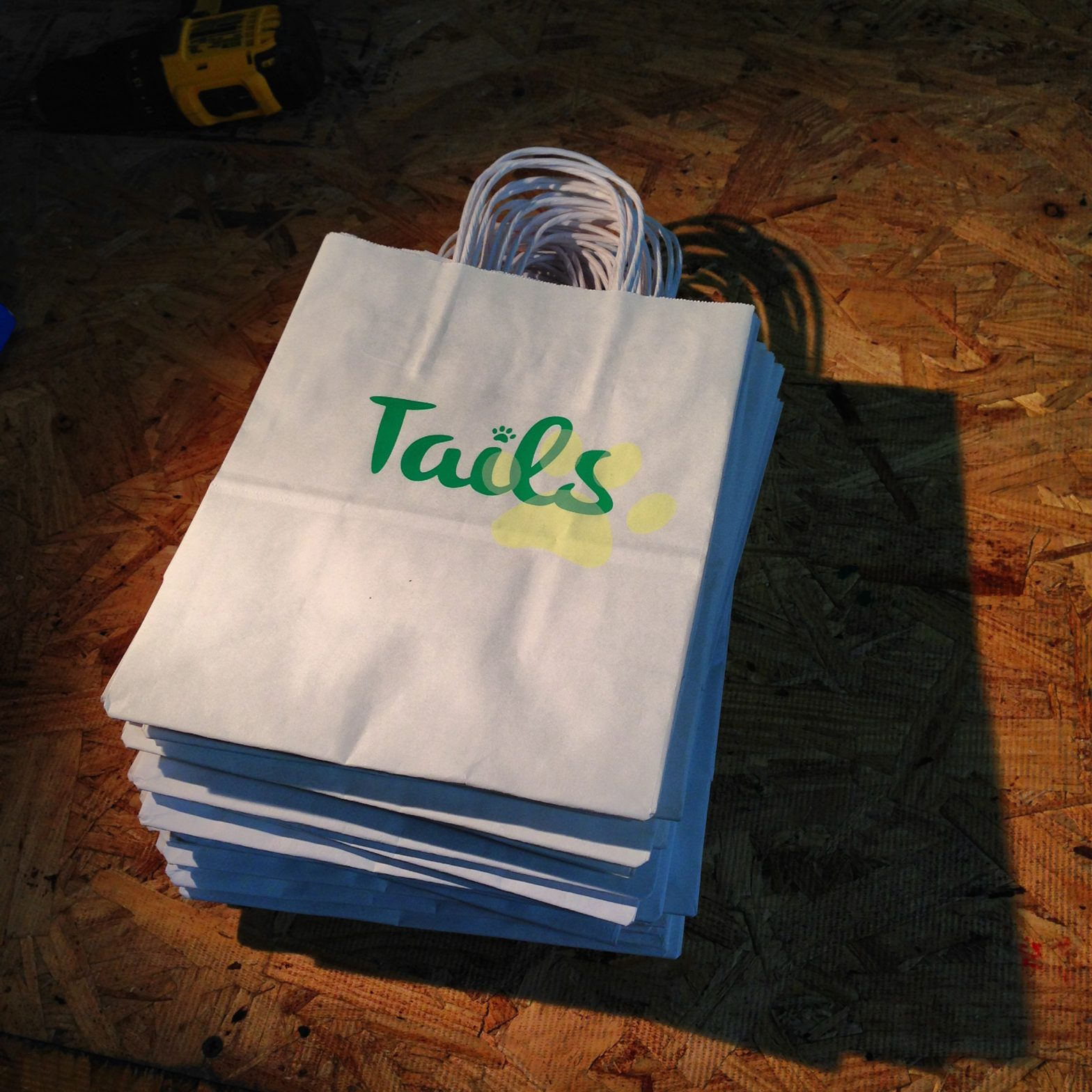 screen printed gift bags for tails boston