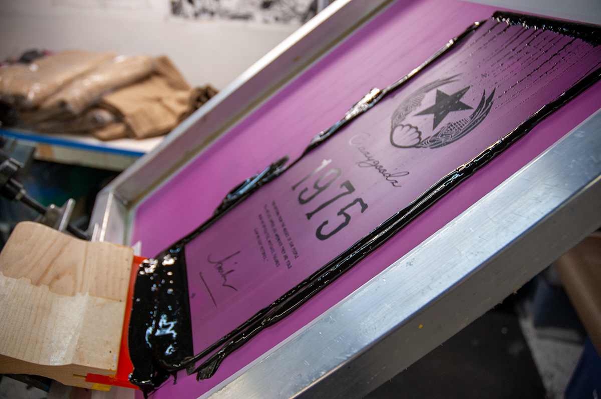 screen printing with reflective inks