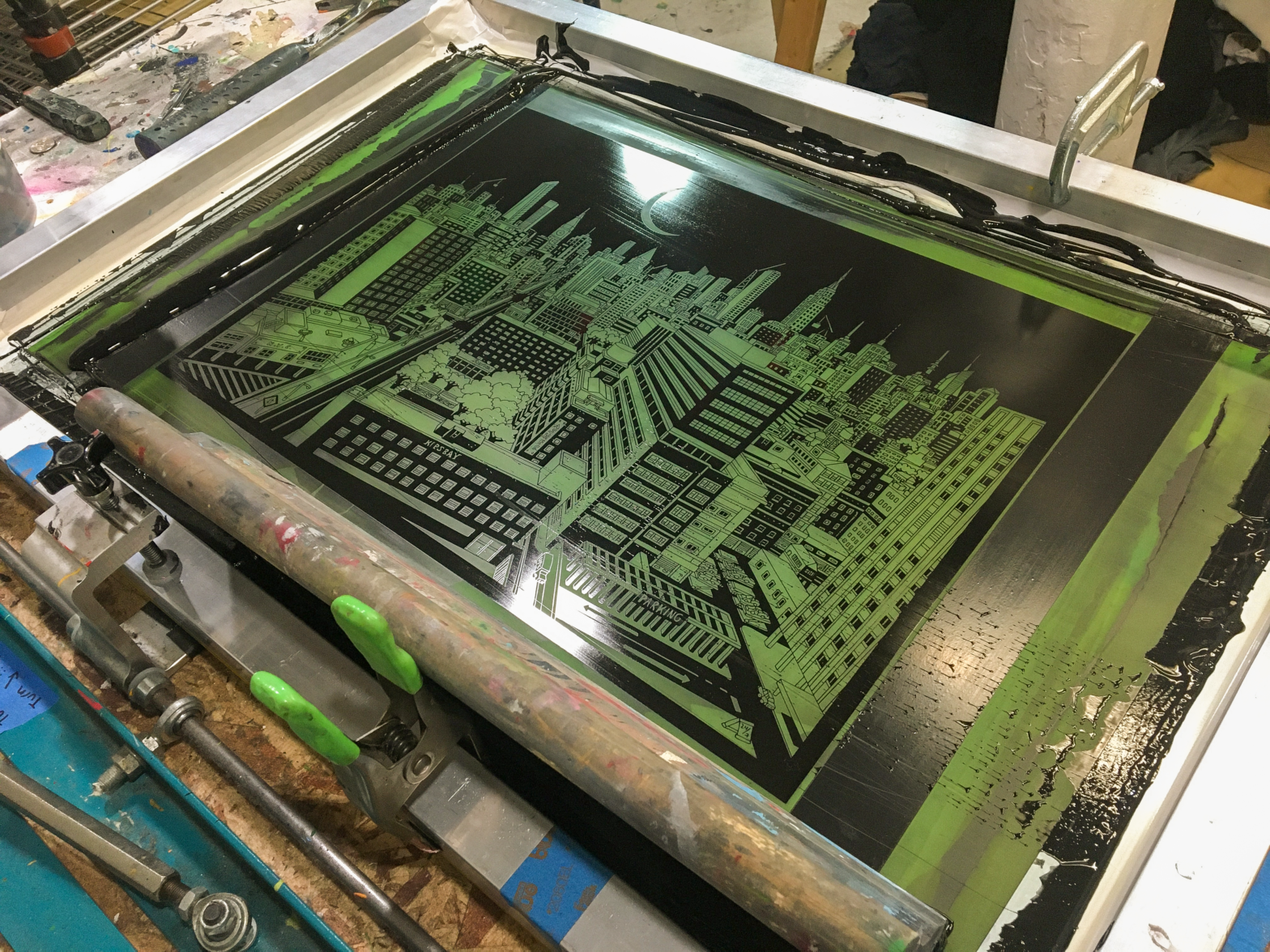silkscreen posters for teklife