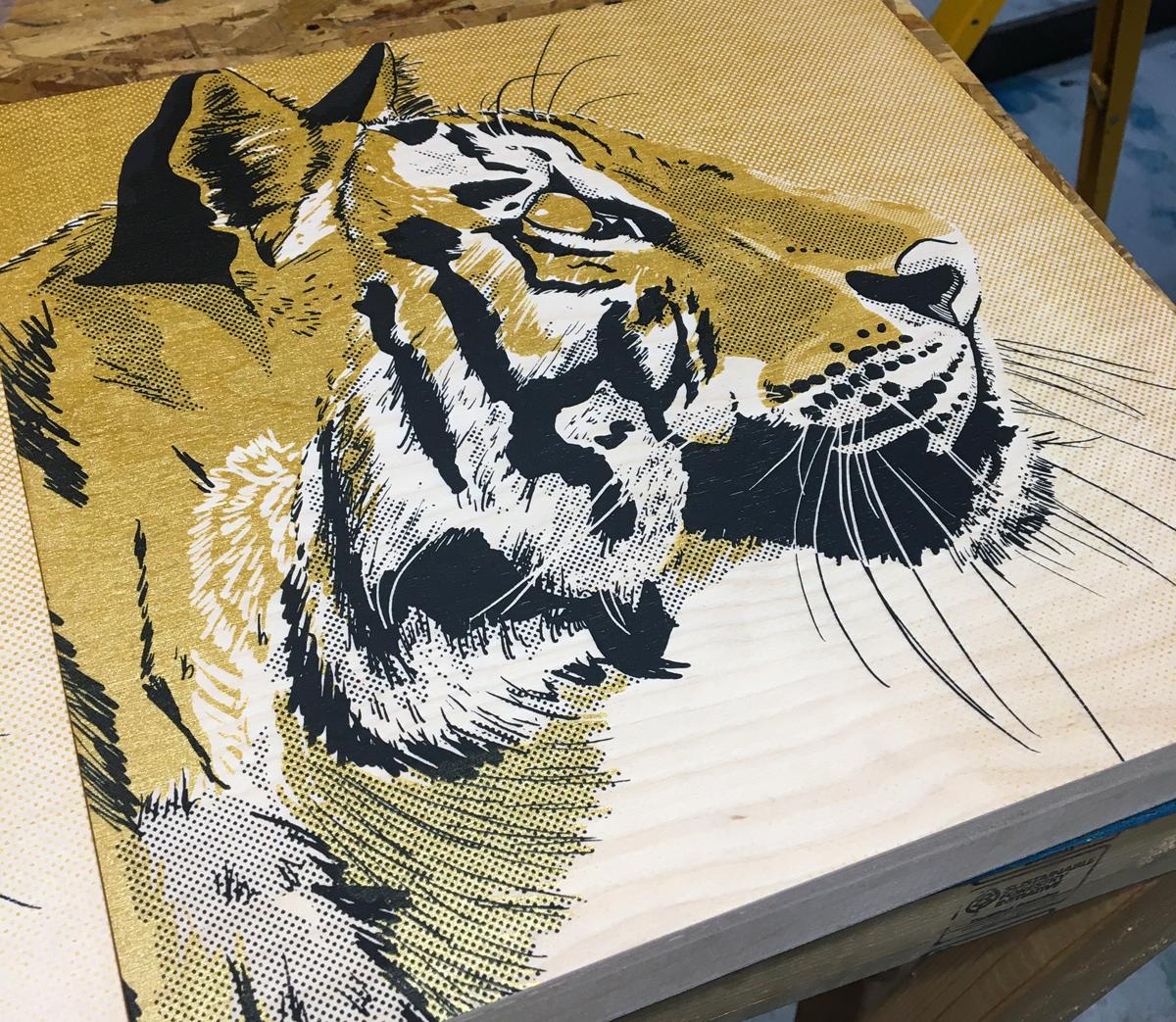 screen printing on wood